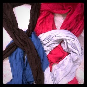 3 lightweight blanket scarves + 1 bonus